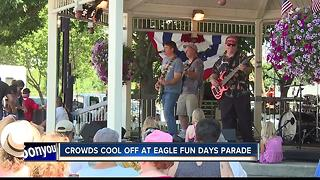Hundreds brave the heat for Eagle Fun Days - Video