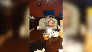 Baby Says All The Right Arguments When Mom Forgets To Put Food In His Mouth - Video
