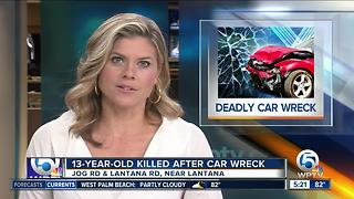 13-year-old killed in crash on Jog Road - Video