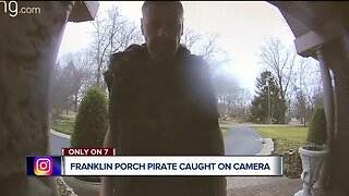 Porch pirate wanted in Franklin for stealing packages