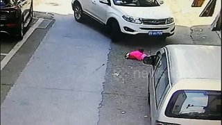 Toddler miraculously avoids death after being run over twice