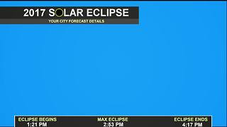 Nice Eclipse Viewing Weather Monday - Video