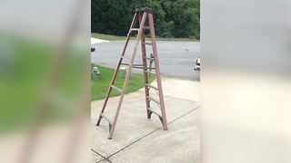 """Haunted Ladder Walking Down the Street By Itself"""