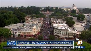 Disney getting rid of plastic straws in parks