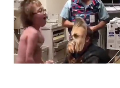 Chewbacca Visits Sick Boy, Tells Him He's Getting a New Heart