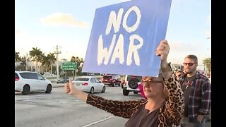 Rally against possible war with Iran