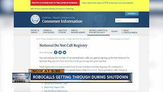 """Businesses receiving more robocalls as """"Do-Not Call"""" service is down during government shutdown"""