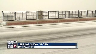Spring storm road conditions