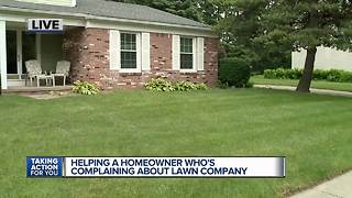 Helping a homeowner who's complaining about lawn company - Video