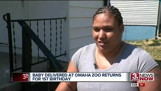 Baby born at omaha zoo returns to celebrate birthday - Video