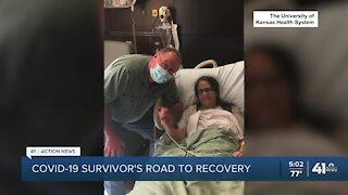 COVID-19 survivor's road to recovery