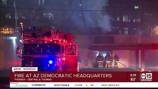 Maricopa County Democratic Party building destroyed by fire