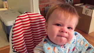 """Baby Tries Applesauce For The First Time"""