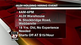ALDI holding hiring event Monday - Video