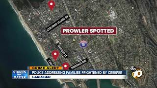 Officers looking for Carlsbad prowler - Video