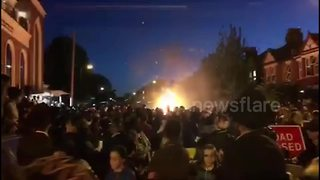 Fireball injures 10 people during London Jewish festival - Video