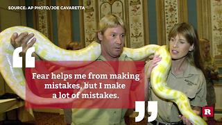 Steve Irwin quotes to live by | Rare People - Video