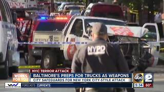 Baltimore preps for trucks as weapons - Video