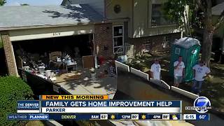Volunteers step in to help Parker family with much-needed home repairs - Video