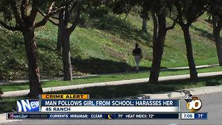 Man follows girl from school - Video