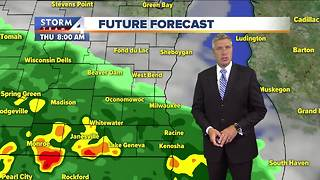 Showers ending, mostly cloudy Wednesday night - Video