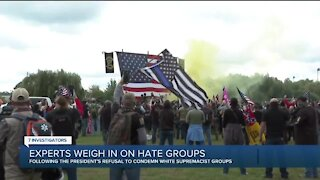 Experts respond after President Trump fails to condemn white supremacist groups