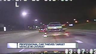Professional car thieves target vehicle in Livonia? - Video