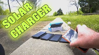 Best Cell Phone Solar Charger for Camping ~ Hiking Outdoors ~ Action Cam Portable