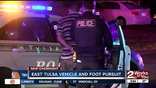 Three people in custody after foot chase in East Tulsa - Video
