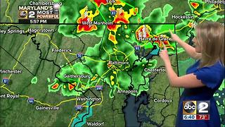 Maryland's Most Accurate Forecast - Flooding Rain - Video