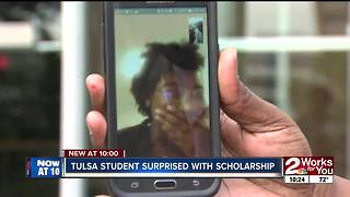 Tulsa student surprised with scholarship