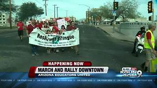 Red for Ed in Arizona: Teachers holding