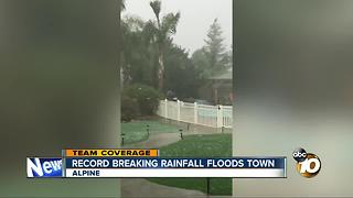 Record rainfall floods Alpine - Video