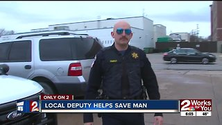 Local deputy helps save man