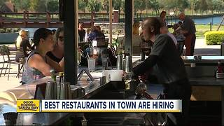 Tampa Bay's best restaurants need good workers due to historically low unemployment numbers - Video