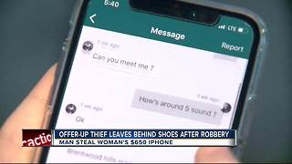 Deputies say man stole woman's iPhone and left his shoe behind at the crime scene - Video