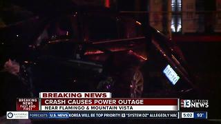 Crash near Flamingo Road and Mountain Vista - Video