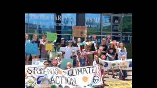 Queensland Students Protest Climate Change at Political Office
