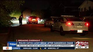 Driver arrested after wrong way chase down Broken Arrow Expressway
