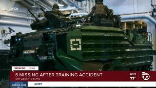 8 missing after training accident