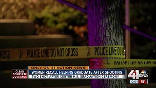 Women recall helping graduate after shooting - Video