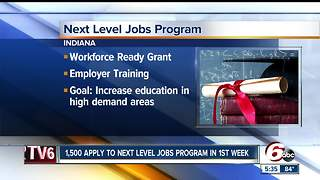 1,5000 apply for Next Level Jobs Program - Video