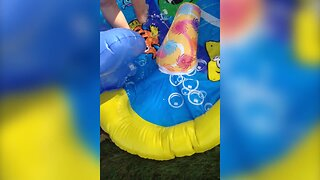 Little Girl is Confused About Slide