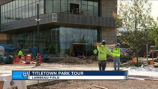 Packers unveil new Titletown Park - Video