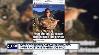Detroit fire EMS captain suspended over racists posts gets job back - Video