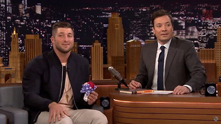 Tim Tebow Dances With Young Woman On 'The Tonight Show' - Video