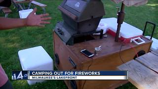 Hundreds Camp out on Milwaukee's lakefront 24 hours ahead of the fireworks - Video