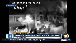 Video shows police SUV chasing teen, ramming him
