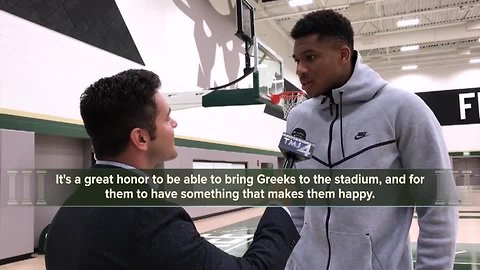 It's all Greek with Giannis Antetokounmpo in one-on-one interview with TODAY'S TMJ4