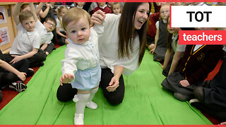 Babies visit primary school pupils and help them learn about empathy